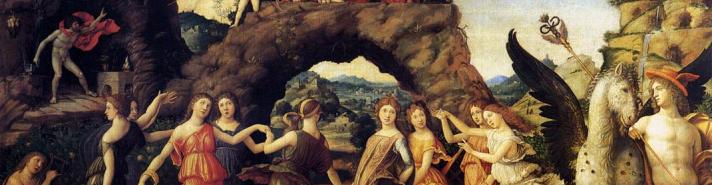 Andrea Mantegna (1431-1506) - Parnassus, 1494, Louvre, Paris.