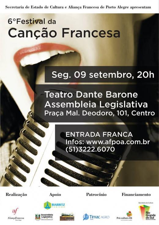 6º Festival da Canção Francesa em Porto Alegre