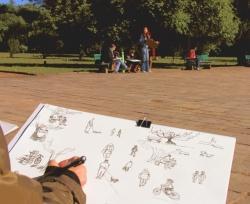 Desenhando no Parque com a Koralle