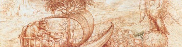 Leonardo da Vinci (1452-1519) - Alegoria do lobo e da águia, 1516, Royal Library